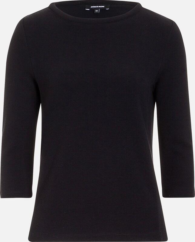 MORE & MORE graues Sweatshirt, Ansteckblüte
