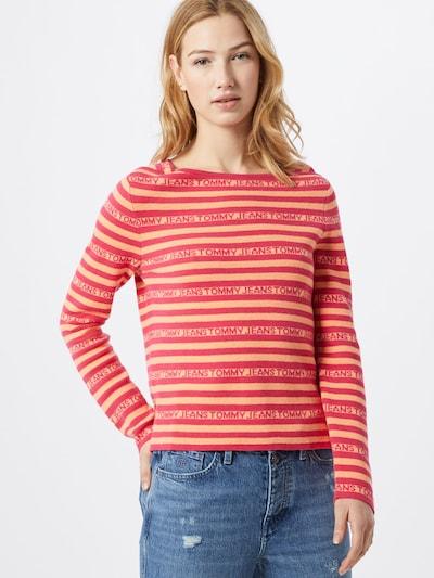 Tommy Jeans Pullover in orange / dunkelpink, Modelansicht