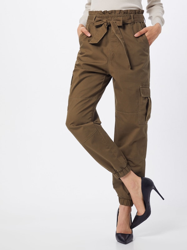 ONLY Hose 'Miles Ancle' in khaki, Modelansicht