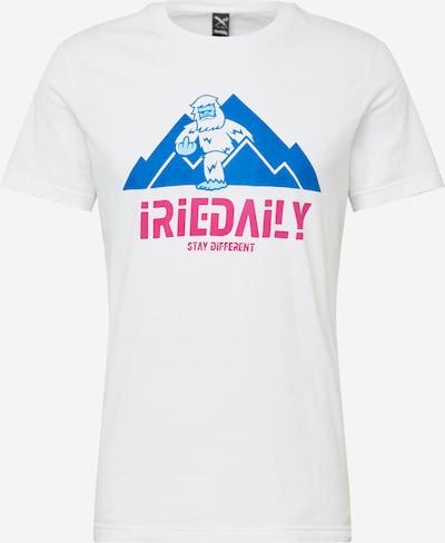 Iriedaily Shirt ' Stay Yeti ' in de kleur Gemengde kleuren / Wit, Productweergave