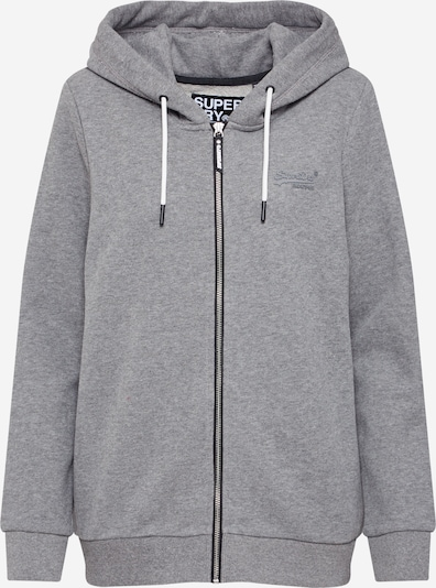 Superdry Sweatjacke 'OL ELITE' in grau, Produktansicht