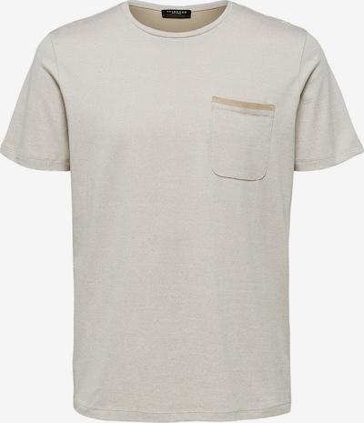SELECTED HOMME Dezent glänzendes T-Shirt in creme, Produktansicht