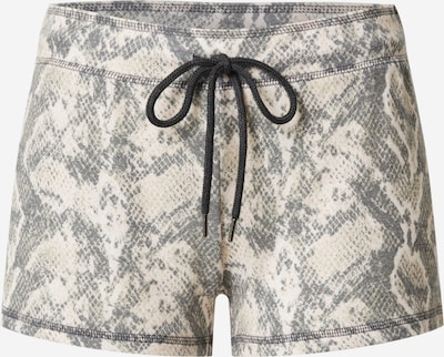 PJ Salvage Badeshorts 'Animal Instinct' in beige / grau, Produktansicht