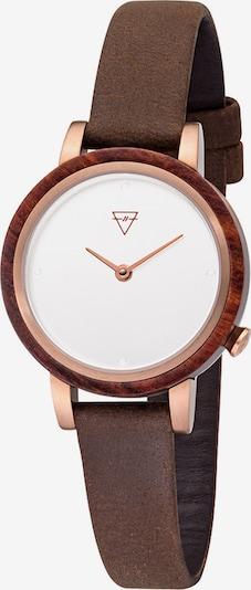 Kerbholz Uhren in braun / rosegold, Produktansicht