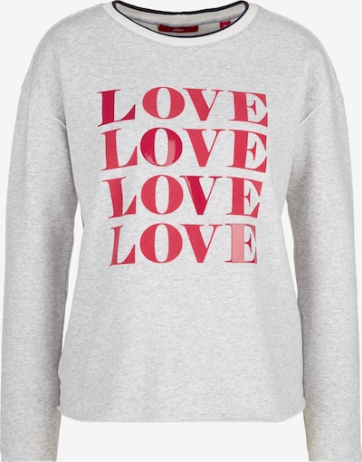 s.Oliver Sweatshirt in grau / rot, Produktansicht