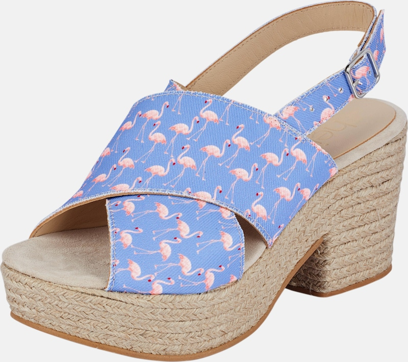 heine Heine Sandalette mit Flamingo-Dessin