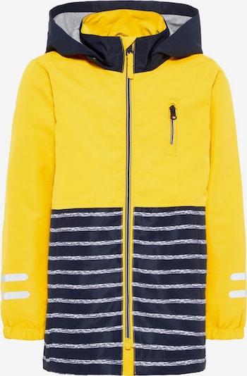 NAME IT Jacke in dunkelblau / gelb / graumeliert, Produktansicht