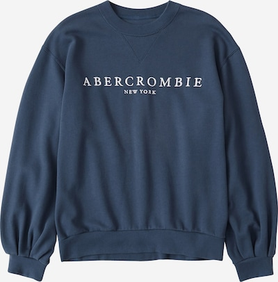 Abercrombie & Fitch Sweat-shirt 'AB LOGO PUFF SLEEVE CREW' en bleu: Vue de face