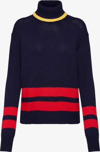 POLO RALPH LAUREN Sweter w kolorze granatowy / żółty / czerwonym: Widok z przodu