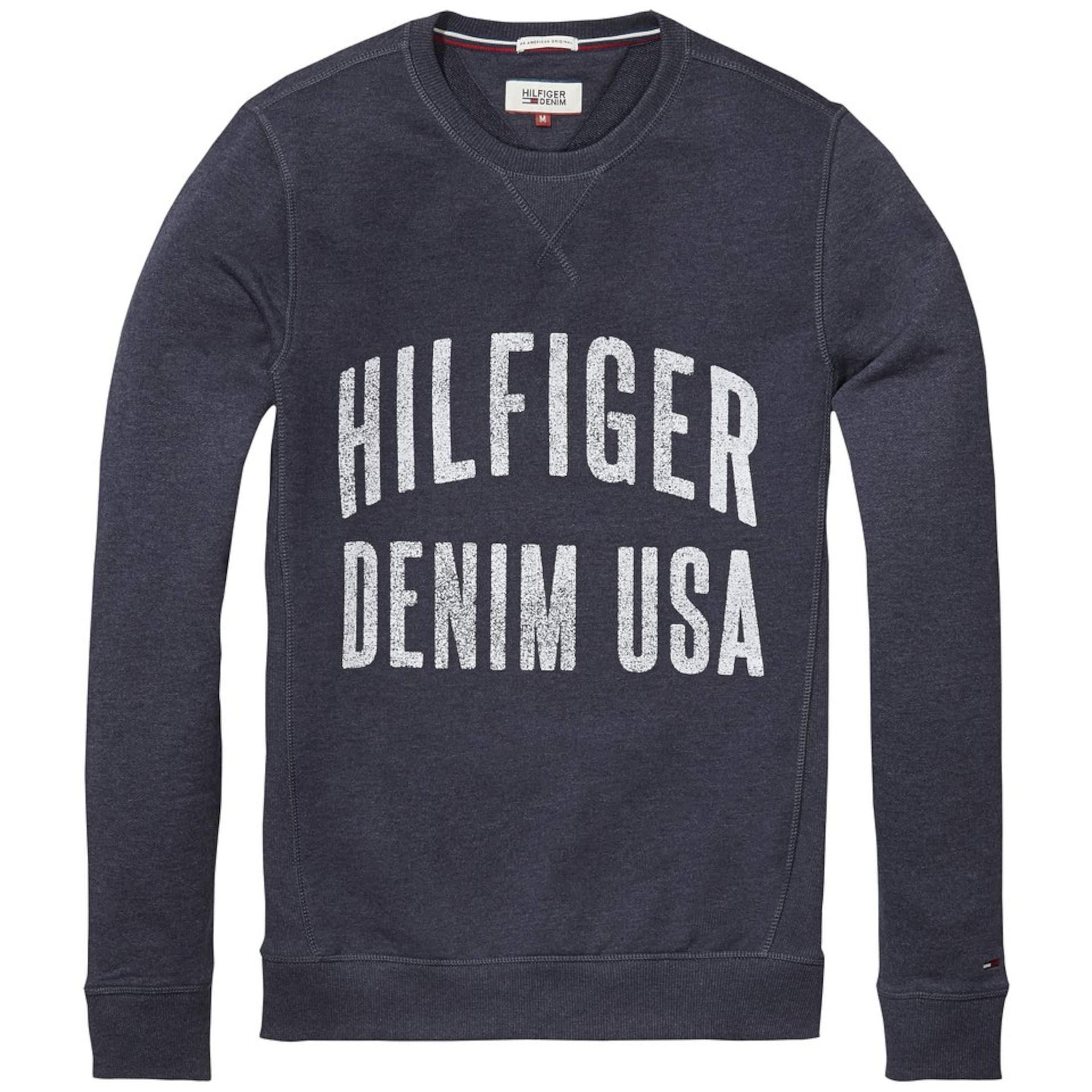 Spielraum Original Tommy Jeans Sweatshirt 'THDM BASIC RIB CN HKNIT L/S 11' Günstiger Preis Niedrig Versandgebühr Freies Verschiffen Neuestes 4bcg7