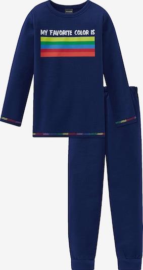 SCHIESSER Schlafanzug in dunkelblau / mischfarben, Produktansicht