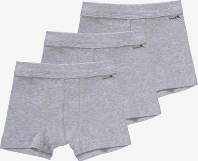 SANETTA Boxershorts 3er-Pack für Jungen aus Organic Cotton in graumeliert, Produktansicht