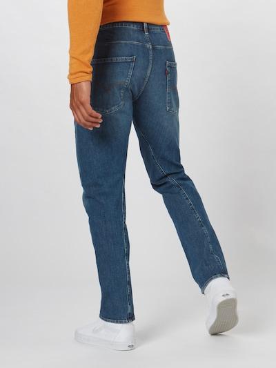 LEVI'S Jeans 'LEJ 502  Taper' in blue denim: Rückansicht