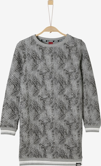 s.Oliver Junior Sweatkleid in grau / basaltgrau / weiß, Produktansicht