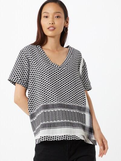 Cecilie Copenhagen Tričko - černá / bílá: Pohled zepředu