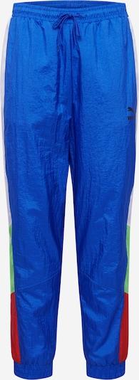 PUMA Broek in de kleur Blauw / Neongroen / Rood, Productweergave