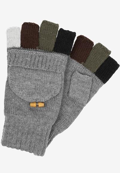 INDICODE JEANS Vingerhandschoenen in de kleur Grijs / Olijfgroen / Bourgogne, Productweergave