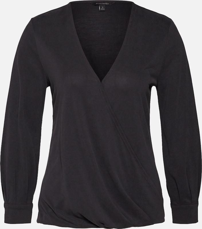 Republic Top 'wrap Banana Sandwash' In Zwart Shirt oCeBrdx