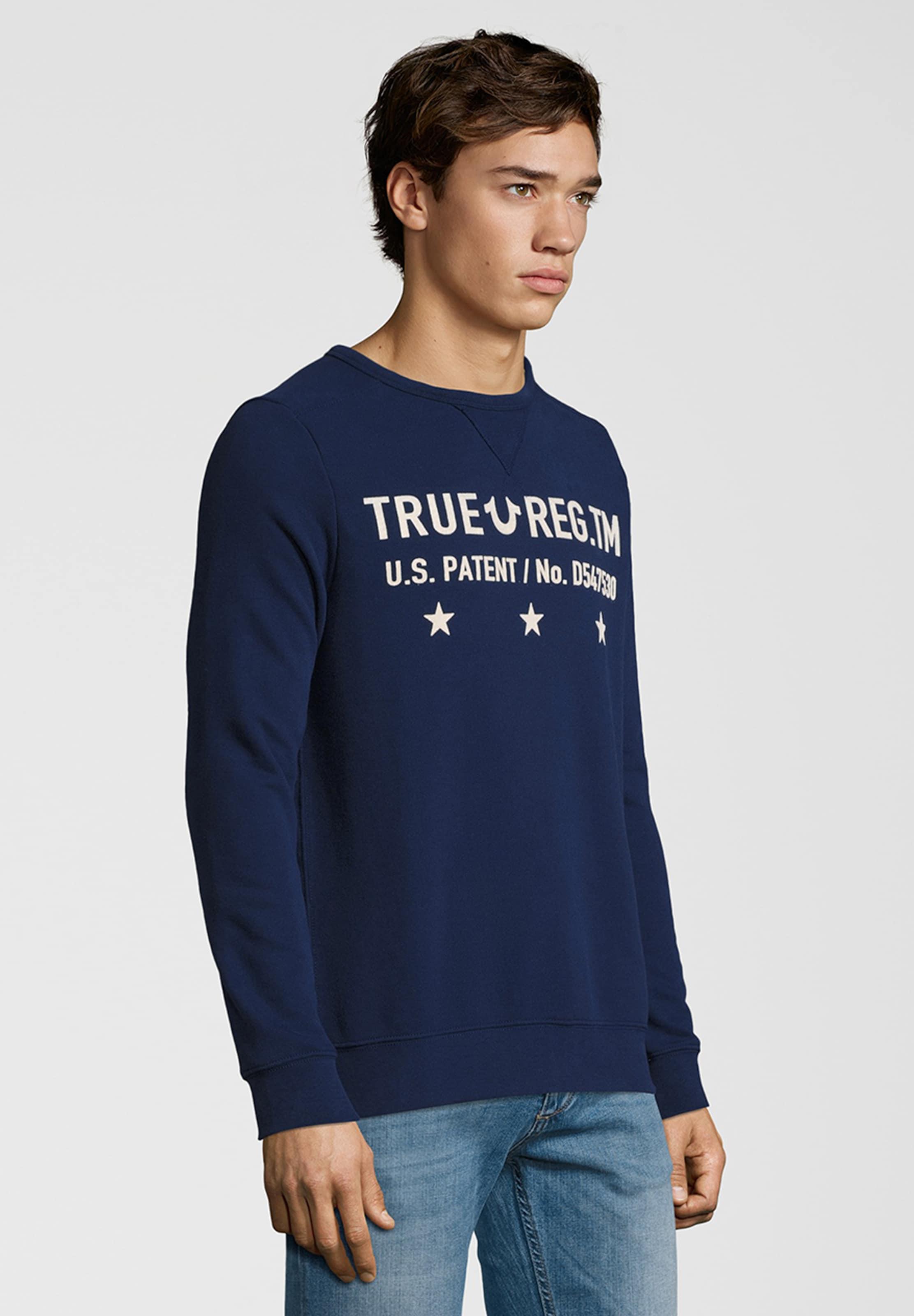 Sweatshirt NavyWeiß 'crew True Religion Military' In 8Pk0ONnwX