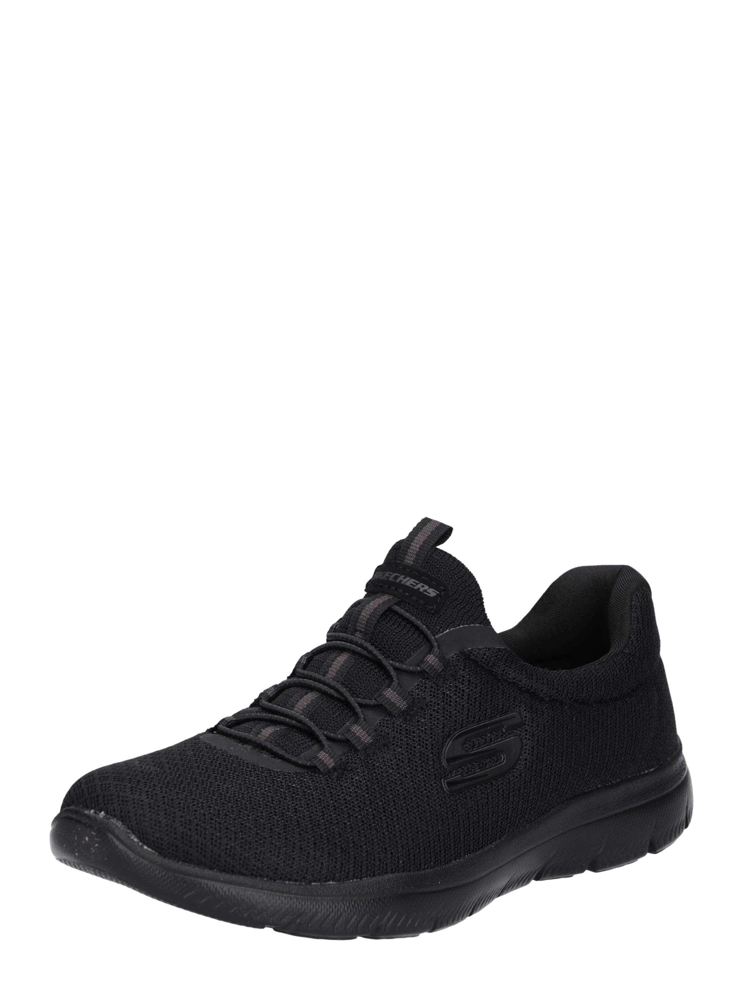 SKECHERS Sneakers laag Summits in Zwart Effen SKE0250001000007