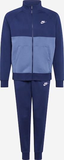 Nike Sportswear Freizeitanzug in rauchblau / nachtblau, Produktansicht