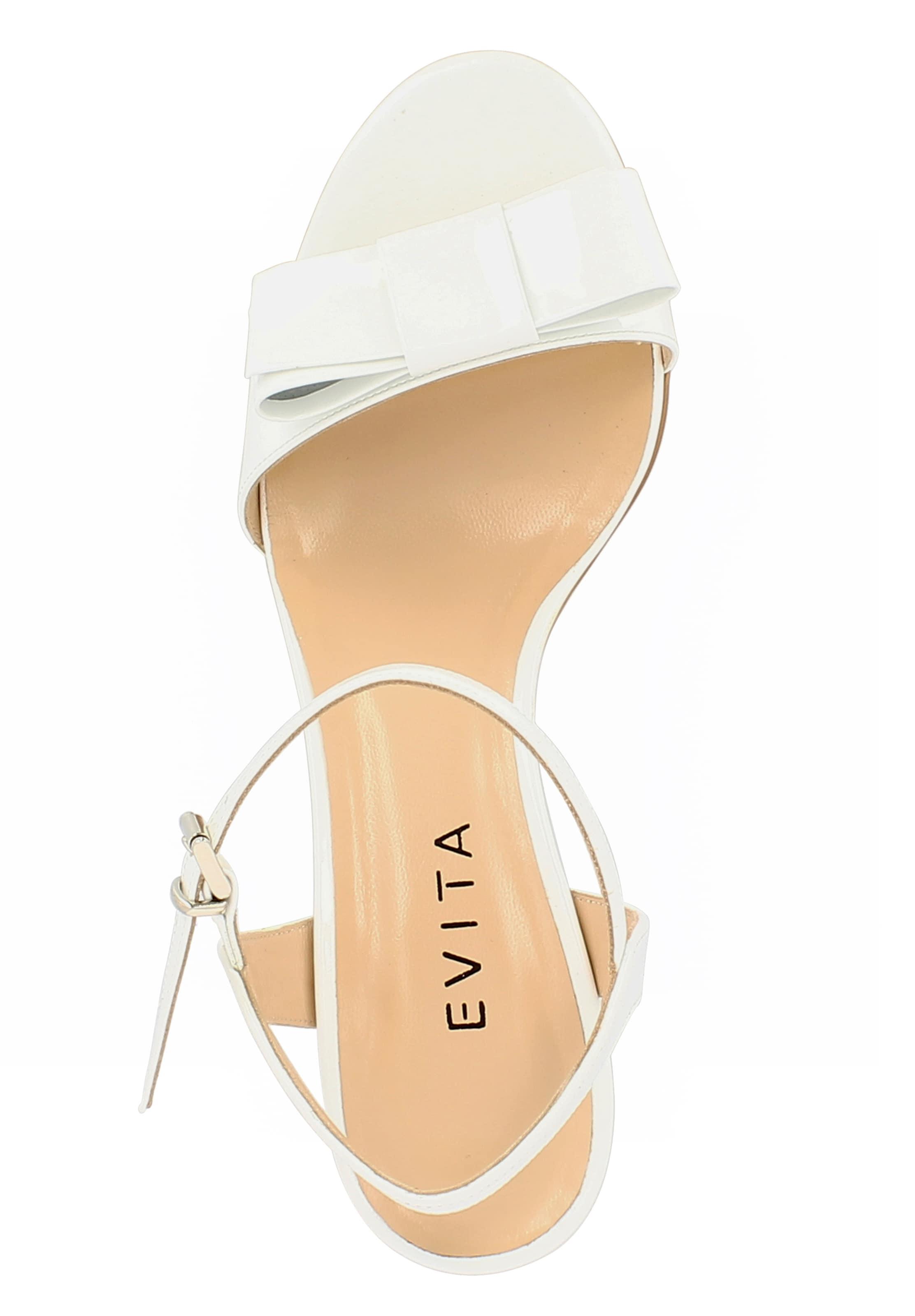 In Evita 'mariella' Sandalette Weiß gfYb76yv