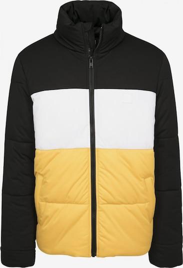 Urban Classics Winterjas in de kleur Geel / Zwart / Wit, Productweergave