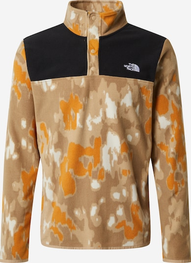 THE NORTH FACE Sportsweatshirt 'Tka Glacier Snap-Neck' i cappuccino / lysebrun / orange / sort / hvid, Produktvisning