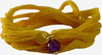 YOGISTAR.COM Wickel-Armband 'Mychakra' in honig / dunkellila, Produktansicht