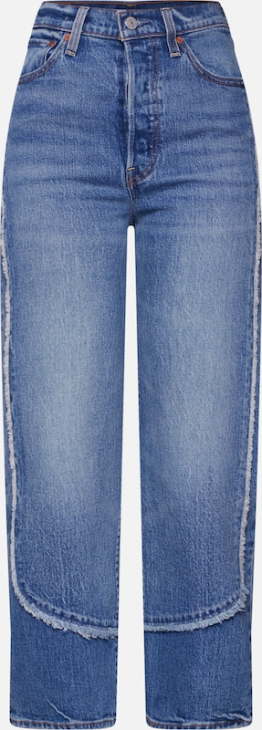 LEVI'S Jeans 'RIBCAGE STRAIGHT ANKLE' in blue denim, Produktansicht