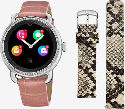 FESTINA Smartwatch in hellbeige / dunkelbraun / rosa / silber, Produktansicht