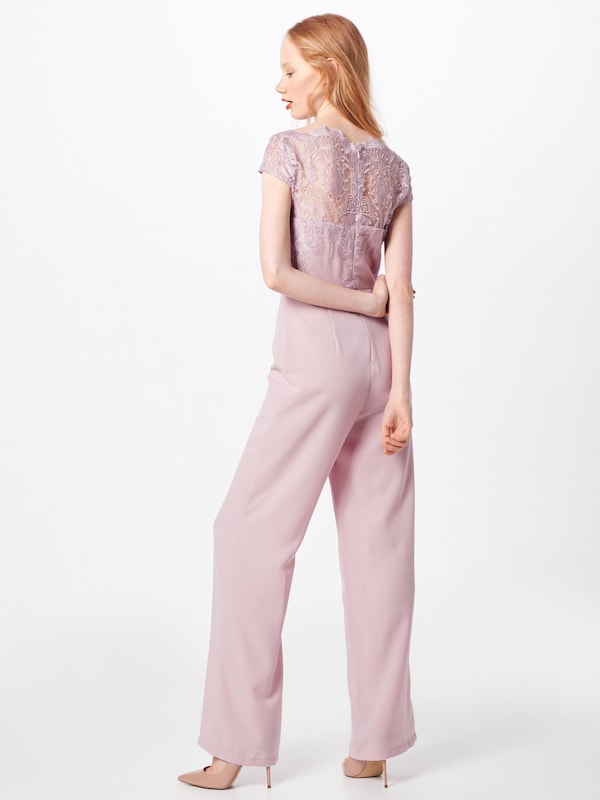 Chi Chi London Overalls 'Alicia' in rosa: Rückansicht