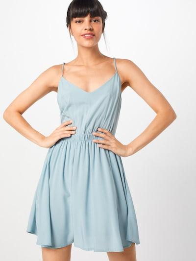 Review Kleid in hellblau, Modelansicht