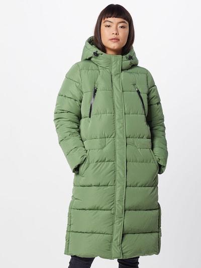 TOM TAILOR DENIM Mantel 'padded long coat' in grün, Modelansicht