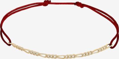 ELLI Armband in gold / bordeaux, Produktansicht