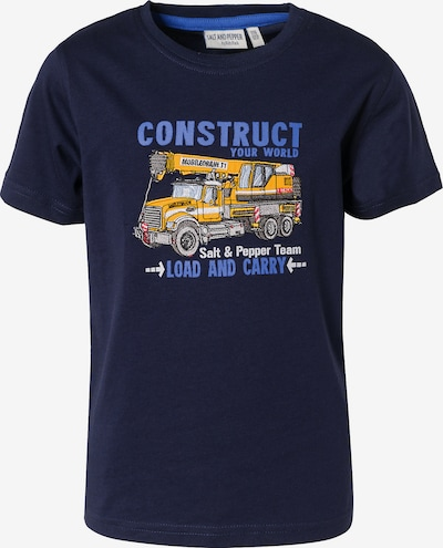 SALT AND PEPPER T-Shirt , Baustelle in dunkelblau, Produktansicht
