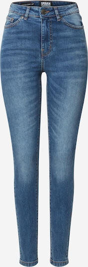 Urban Classics Jeans 'Ladies High Waist Skinny Jeans' in de kleur Blauw denim, Productweergave
