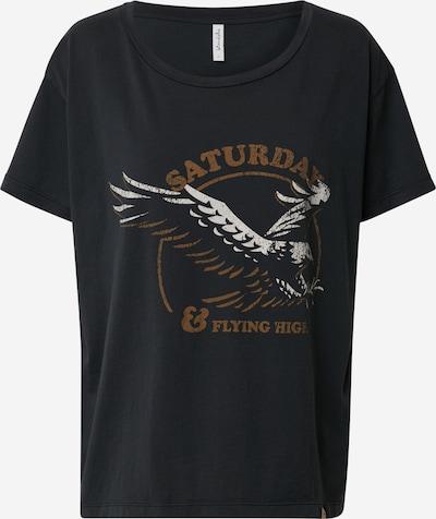 Blend She Shirt in de kleur Bruin / Zwart / Wit, Productweergave