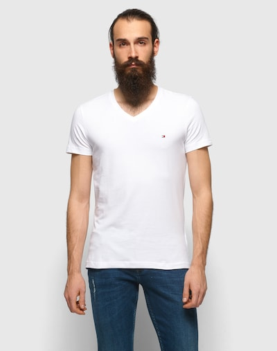 TOMMY HILFIGER Majica | bela barva, Prikaz modela