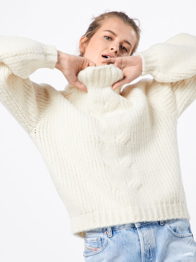 minimum Pullover 'Yutte' in weiß, Modelansicht