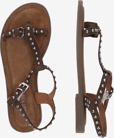 Sandale 'Anne' ABOUT YOU pe kaki: Privire laterală