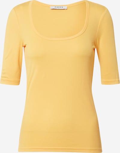 PIECES T-shirt en jaune, Vue avec produit