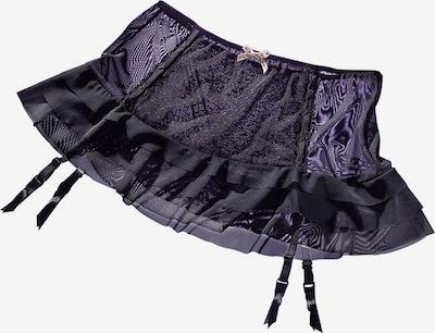PETITE FLEUR GOLD Garters in Purple / Black, Item view
