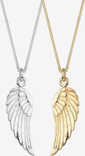 ELLI Kette 'Flügel' in gold / silber, Produktansicht