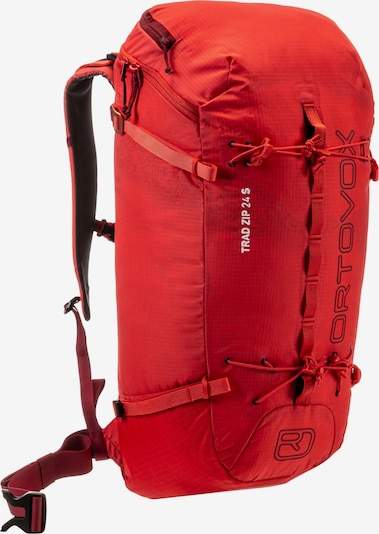 ORTOVOX Kletterrucksack 'TRAD ZIP 24 S' in koralle / rot / feuerrot, Produktansicht