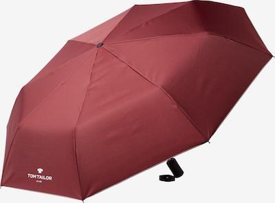 TOM TAILOR Paraplu in de kleur Wijnrood / Wit, Productweergave