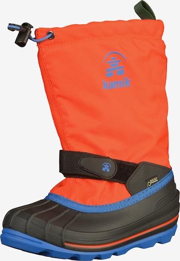 Kamik Boots en bleu / orange / noir, Vue avec produit