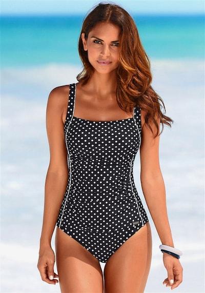 LASCANA Badeanzug in schwarz / weiß, Produktansicht