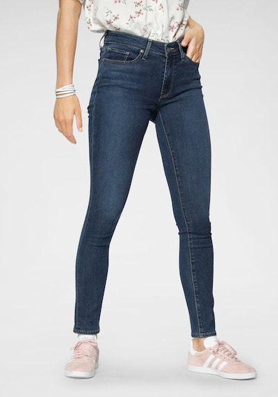 LEVI'S Jeans '711' in blue denim, Modelansicht