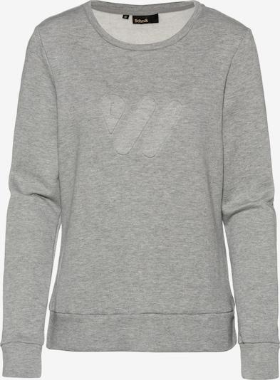 Scheck 'SCHECK' Sweatshirt in hellgrau, Produktansicht